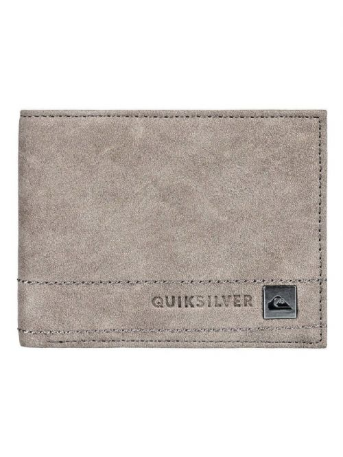 QUIKSILVER MENS WALLET.STITCHY III FAUX LEATHER BROWN MONEY CARD PURSE 8W 690 KS